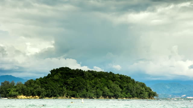 Island In Sabah, Borneo. Time Lapse video