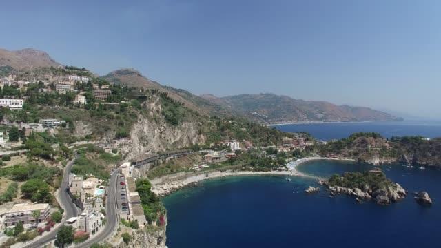 島 isola 貝拉在陶爾米納, 西西里 - sicily 個影片檔及 b 捲影像
