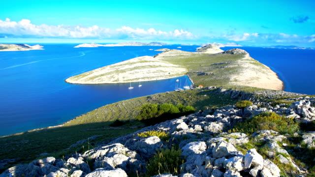 Island Kornat, Dalmatia, Croatia, view from above video