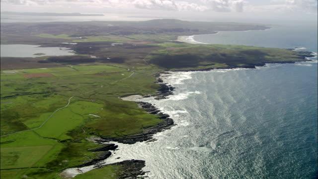 Island Of Islay  - Aerial View - Scotland, United Kingdom Islay and deserted beach shots and coast scotland stock videos & royalty-free footage
