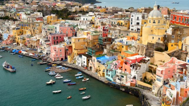 isola di procida.   napoli, italia - procida video stock e b–roll
