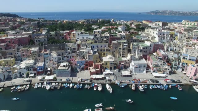isola di procida, napoli, italia - procida video stock e b–roll