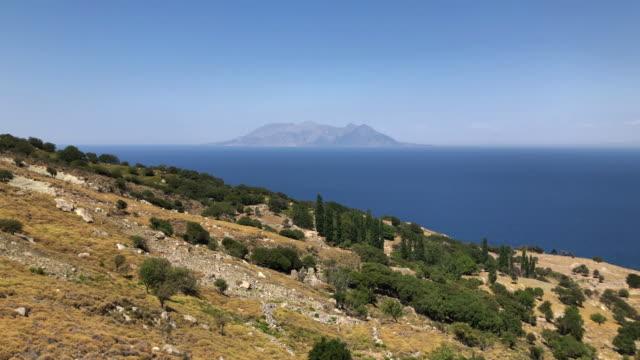 island of samothraki / samothrace, north aegean - isole egee video stock e b–roll