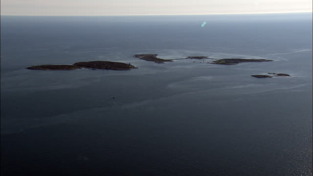 Isles of Shoals - Aerial View - Maine,  York County,  United States video