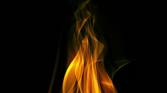 Isolated Abstract Centered Flame Background Loop video