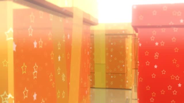 isolated colored boxes - blue yellow band bildbanksvideor och videomaterial från bakom kulisserna