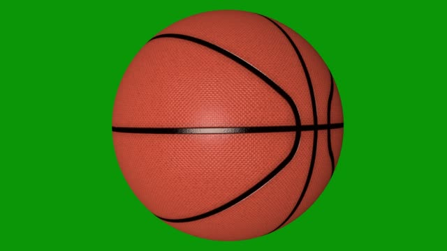 isolated photorealistic basketball rotating on the green screen. seamless loop. 4k - rotolare video stock e b–roll