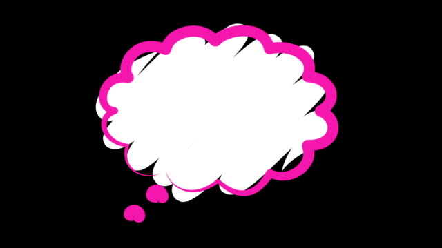 Isolated Pink Speech Bubble Pink and white speech or chat bubble. Isolated, with mask. speech bubble stock videos & royalty-free footage