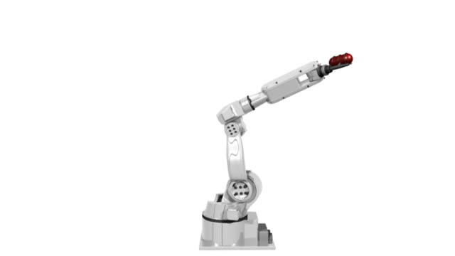 isolated robot  robot arm stock videos & royalty-free footage