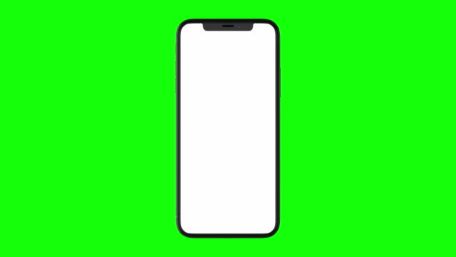 Isolated Smart Phone with Green Screen video