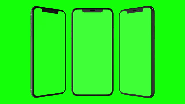 smartphone mit greenscreen isoliert - vorlage stock-videos und b-roll-filmmaterial