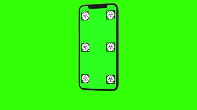 isolerade smart telefon med grön skärm - utskuren bild bildbanksvideor och videomaterial från bakom kulisserna