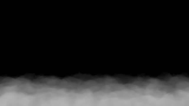 검은 색 배경에서 고립 된 두꺼운 안개 느리게 이동 - 분위기 스톡 비디오 및 b-롤 화면