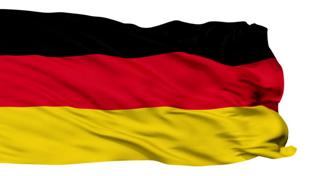 Isolated Waving National Flag of German video