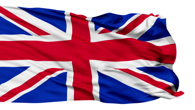 Isolated Waving National Flag of Great Britain video