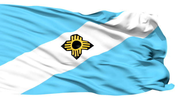 Isolated Waving National Flag of Madison City video