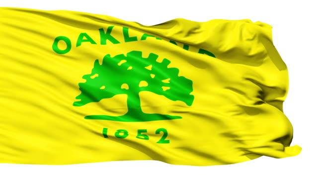 vídeos y material grabado en eventos de stock de aislado bandera nacional ondeante de oakland a la ciudad - oakland