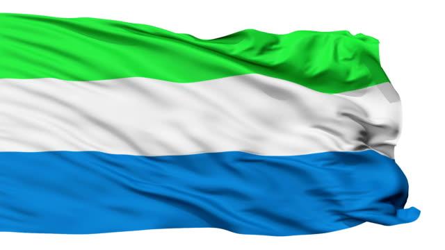 isolato sventolando bandiera nazionale di sierra leone - sierra leone video stock e b–roll