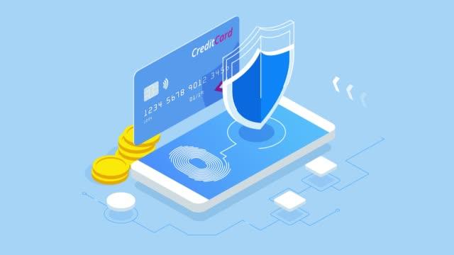 isometrisk person dataskydd webb banner koncept. cybersäkerhet och integritet. trafikkryptering, vpn, privacy protection antivirus. hd-video. - vpn bildbanksvideor och videomaterial från bakom kulisserna