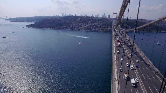 ponte del bosforo di istanbul - istanbul video stock e b–roll