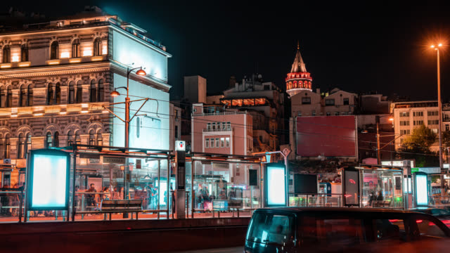 Istanbul City Galata Tower Time Lapse
