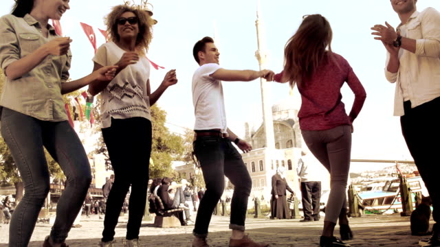 istanbul friends bosphorus  group - student life stock videos and b-roll footage