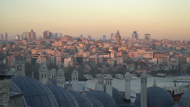Istanbul Golden Horn Landscape from Suleymaniye video