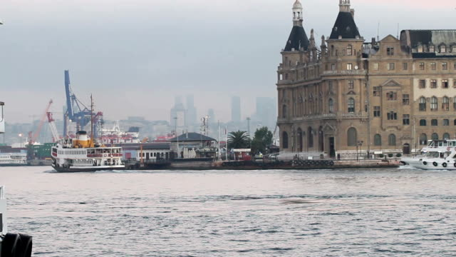 istanbul haydarpasa terminal - neoclassical architecture stock videos & royalty-free footage