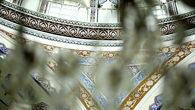 istanbul ottomanska gazi ahmet pasa moskén interiör hörnet kalligrafi ornament - ramadan bildbanksvideor och videomaterial från bakom kulisserna