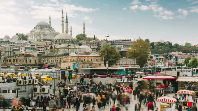 Istanbul timelapse Time laps from Galata Bridge. istanbul stock videos & royalty-free footage