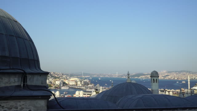 Istanbul view from suleymaniye hill video