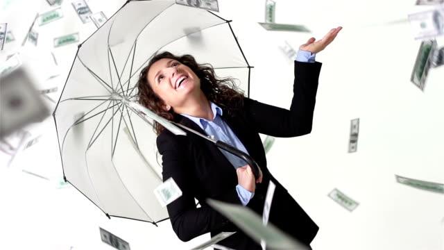 это дождь денег - dollar bill стоковые видео и кадры b-roll
