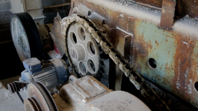 It is showing the work of the engine roar of the factory close-up video