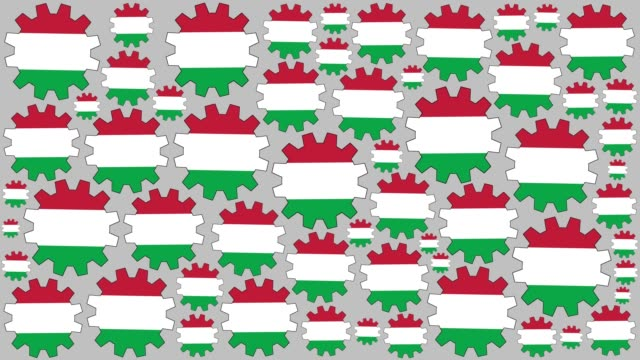 Italian flag gears spinning background video