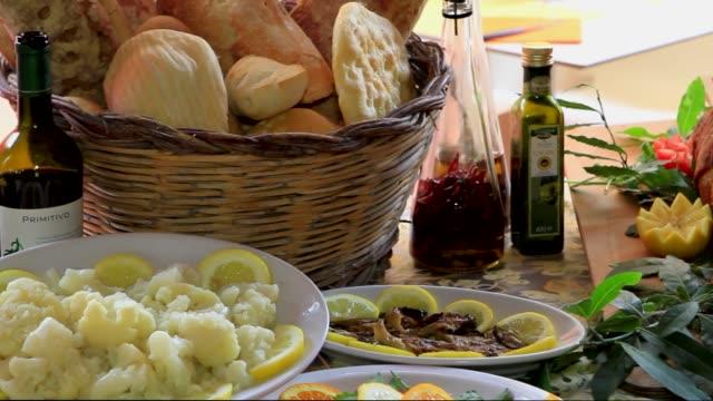 italian food, antipasto - mortadella video stock e b–roll