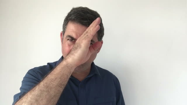 Italian man demonstrate Approved sign of Italian hand gestures video
