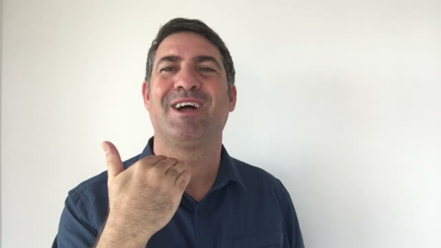 Italian man demonstrate I do not care sign of Italian hand gestures video