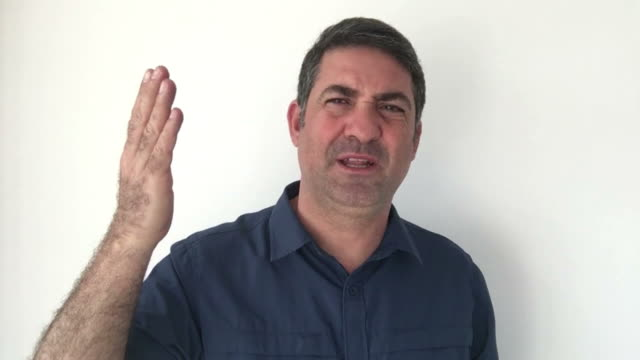 Italian man demonstrate Not a big deal sign of Italian hand gestures video
