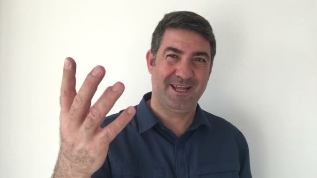 Italian man demonstrate You are afraid sign of Italian hand gestures video