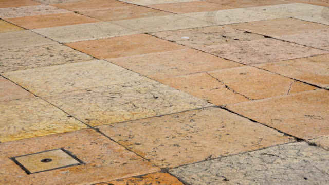 Italian Marble Marble streets of Verona, Italy tile stock videos & royalty-free footage