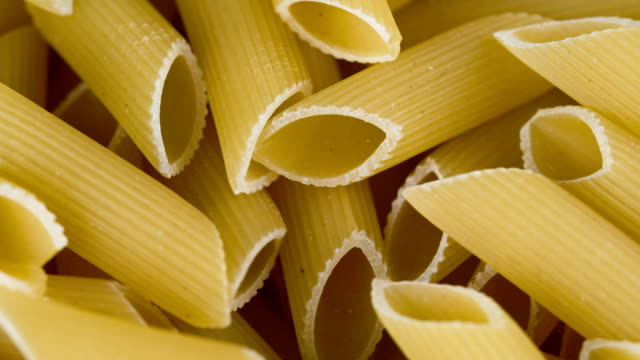italian pasta, not cooked - pasta video stock e b–roll