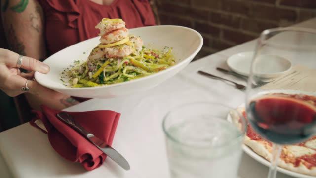 Italian Seafood Dish Served At Restaurant