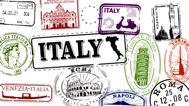 Italian Travel Stamps video