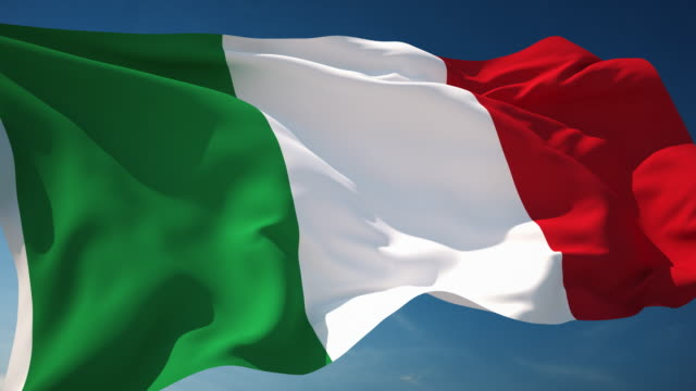 4K Italy Flag - Loopable video