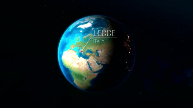 italy - lecce - zooming from space to earth - lecce video stock e b–roll