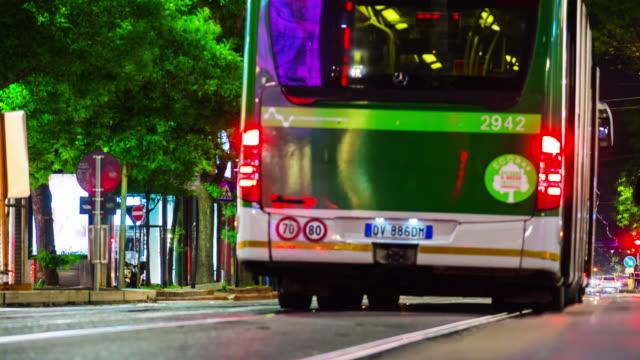 Italy night illuminated milan city traffic street panorama 4k timelapse night illuminated milan city traffic street panorama 4k timelapse italy lombardy stock videos & royalty-free footage