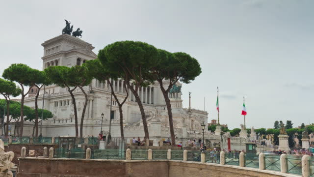 italy rainy day rome famous altare della patria panorama 4k time lapse video