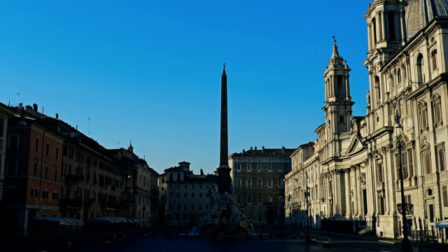 Italy Rome Piazza Navona time lapse video