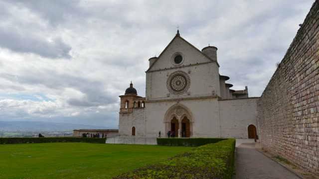 Italy, time lapse  church Assisi