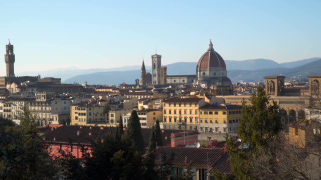Italy Tuscany Florence city. The cathedral and Giotto tower video